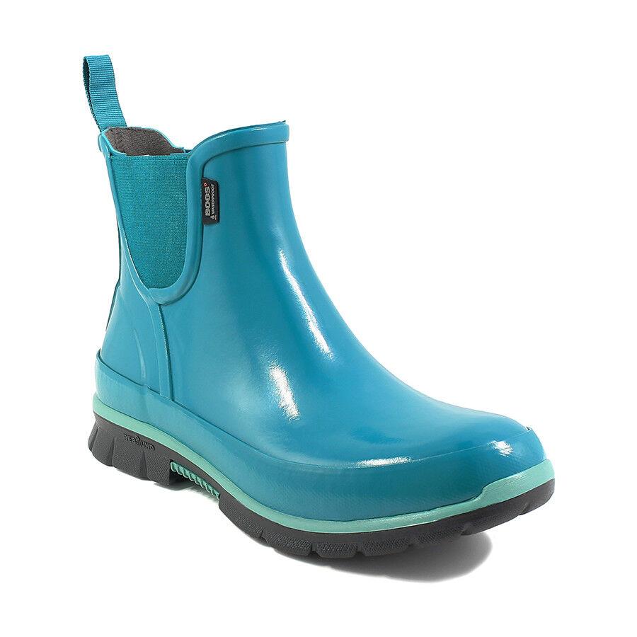 Bogs Women's Amanda Slip On Lightweight Rain Emerald Boots 72053-312