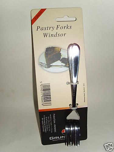 New windsor pâtisserie gâteau fourches en acier inoxydable pk 4 4 pafwsr//c