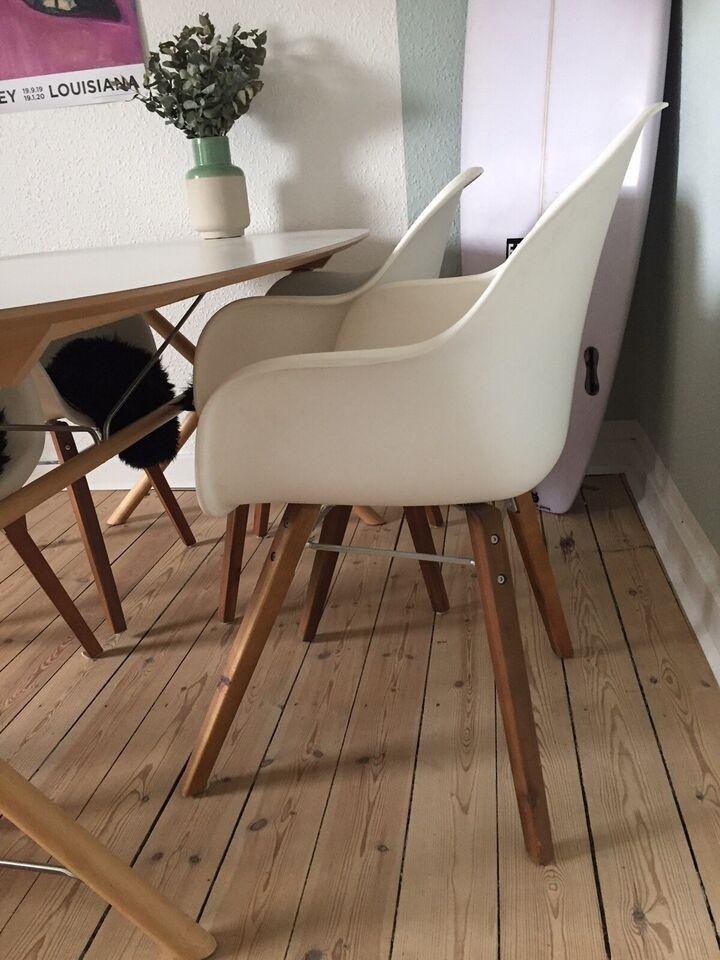 Spisebordsstol, Formstøbt plast – dba.dk – Køb og Salg af