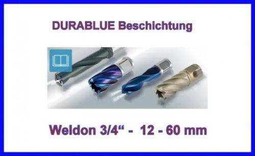 BDS Blue Line HSS Kernbohrer Weldon 12-45 mm Schnitttiefe 30mm HSS XE Kernlochbo
