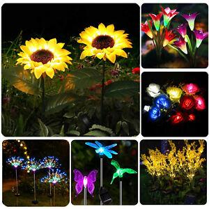 Outdoor Sunflower Solar Light Waterproof Garden Decor Yard Stake Decor Lights