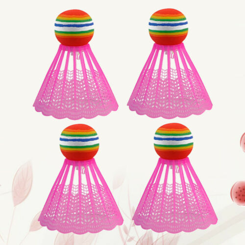 Details about  /4PCS LED Lighting Nylon Badminton Shuttlecocks Sports Supplies Accessories