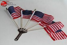 5 Post Vintage Style Parade Mini Flags Holder Motorcycle Car Truck Parade Show Fits 1948 Fleetline