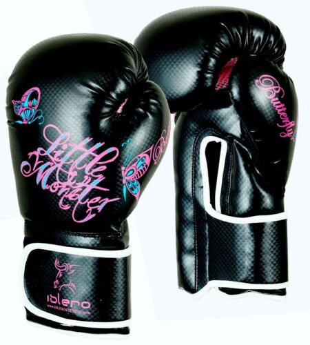 Islero Damen Boxhandschuhe Gel Kampf Mma Boxsack Leder Sparring Mauy Thai