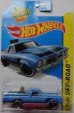 2015 Hot Wheels HW OFF-ROAD '68 El Camino 122/250 (Blue Version)