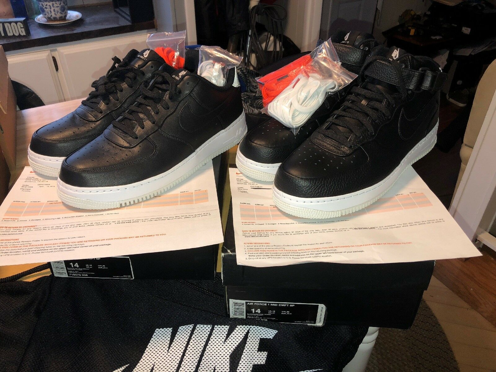Nike NIKELAB Air Force 1 CMFT SP Pack SIZE 14 Low And Mid