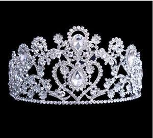 Wedding Bridal Bridesmaid Prom Party Crystal Rhinestone Crown Tiara O4B8