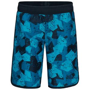 Jack Wolfskin Boys Summer Marble Shorts Salt Water Resistant Uv Protection Kids