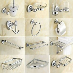New-Chrome-Brass-Wall-Mount-Bathroom-Accessories-Set-Hardware-Towel-Bar-fset005