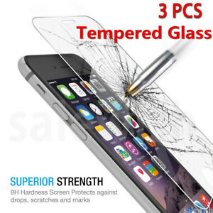 3X-Pour-iPhone-X-7-6-6S-PLUS-4-5SE-Vitre-protection-VERRE-trempe-Film-d-039-ecran
