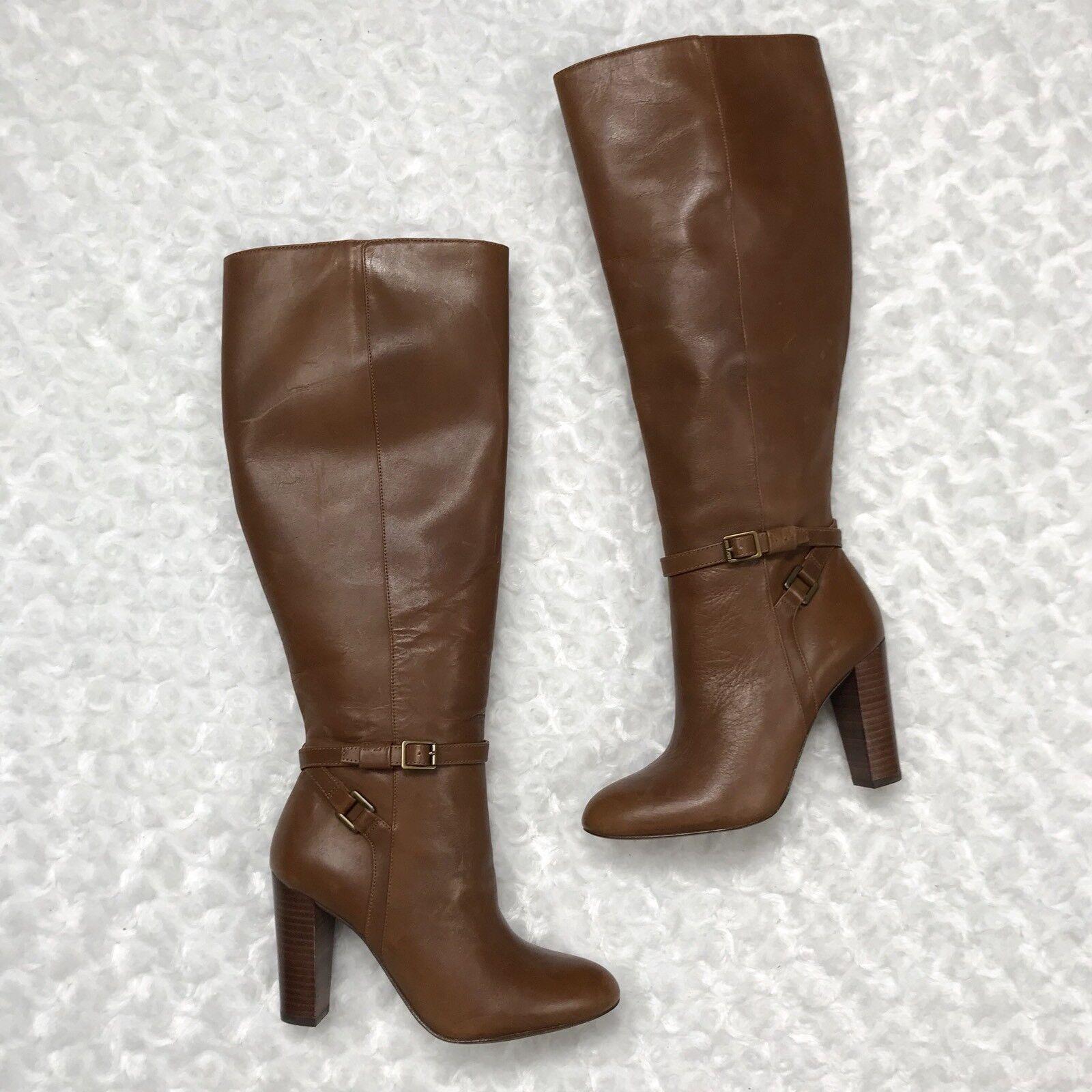 9cf33f98 NWOB Ralph Lauren 5.5 Bruñido Cuero becerro Alto Rodilla Alta Bota Marrón  Valli de bkxdig2455-zapatos nuevos