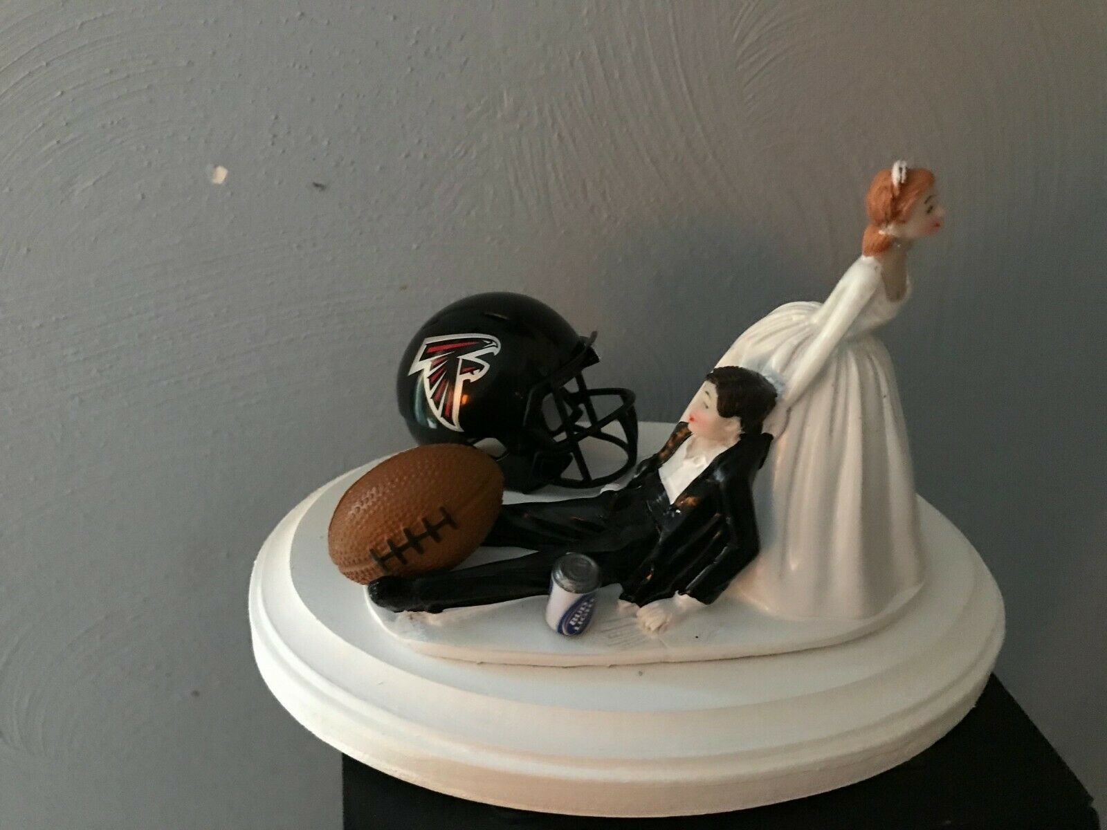 Atlanta Falcons  Cake Topper Bride Groom Wedding day NFL Funny Football Theme