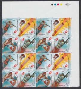 2008-Blks-of-Games-of-the-XX1X-Olympaid-Beijing-Se-tenants-16-Stamps-TL