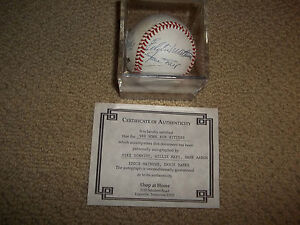 500-HOME-RUN-MAYS-AARON-SCHMIDT-MATHEWS-BANKS-autographed-baseball-COA