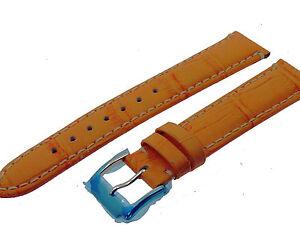 # L036 # Uhrenarmband Armband Leder Kroko Optik Bracelet Leather 18 Mm Moderater Preis