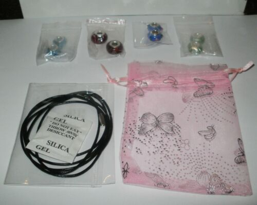 Black /& Silver Lariat Bracelet Necklace ~ FREE 925 CHARM /& FREE GIFT POUCH ~ UK