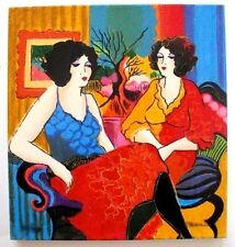 Patricia Govezensky- Models Talking Hand-Signed and Numbered Serigraph with COA