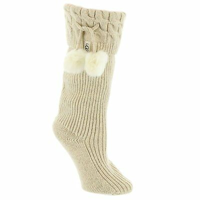 3b0b482768f Womens Socks UGG Pom Pom Short Rainboot Sock 1018804 Cream Heather *New* |  eBay