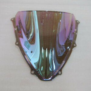 For-Suzuki-GSX-R-600-750-K6-2006-2007-Iridium-Screen-Double-bubble-Windshield