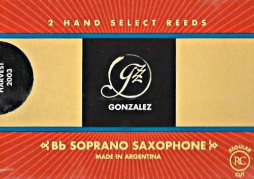 Box of 2 Reeds BRAND NEW Gonzalez #3.25 Soprano Saxophone Reeds