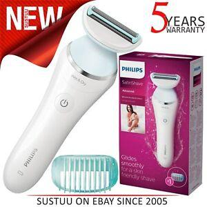 La imagen se está cargando Philips-Satinshave-Avanzado-Mujer-Afeitadora -Humedo-Seco-Electrico- 6eb9188be221