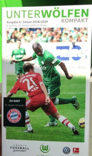 Spieltag Programm VFL Wolfsburg-FC Bayern München 8