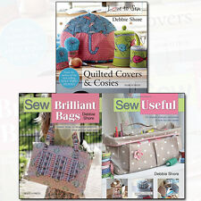 Debbie Shore Collection 3 Books Set Sew Useful, Sew Brilliant Bags, Love to Sew