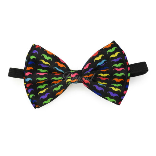 Clip on Bow-Tie Matching Set for Adults Men Women Rainbow Mustache Suspender