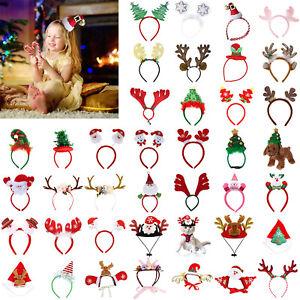 Christmas-Headband-Santa-Claus-Party-Decor-Xmas-Hair-Band-Clasp-Head-Hoop-LOT