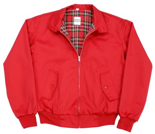 classico anni Mod Giacca stile vintage Red '70 Harrington Retro AzpwqpH