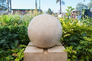 Outdoor-Garden-Patio-Water-Feature-Urban-Sphere-Round-Ball-Fountain-Sandstone