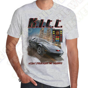 Details about Knight Industries Two Thousand KITT Knightrider Ash Grey  Cotton mens T-shirt