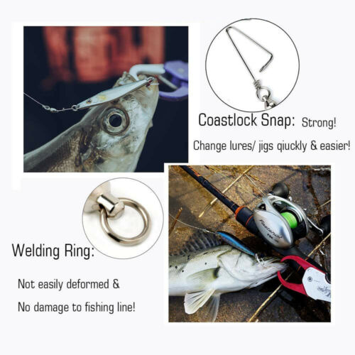 Details about  /Snap Swivels Ball Bearing With Coastlock Swivels Rolling Sea Connector 2#4#5# US