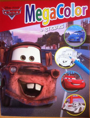 Malbuch Cars mit Sticker 128 Motive Disney Din A4 Megacolor Geschenk