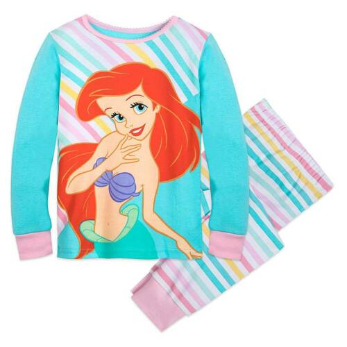 New Disney Store Ariel Rainbow Pajama Set Girls PJ/'s 5,6,7,10