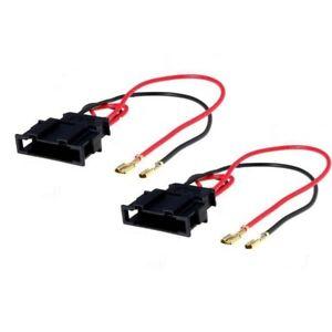 2x Connecteurs fiches enceintes haut-parleurs pour ALFA ROMEO