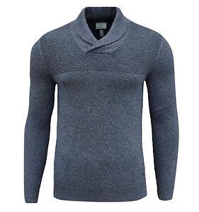 Details zu Adidas Neo Herren Jungen Enge Passform Schalkragen Pullover Blau XS S
