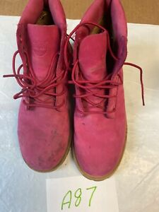 timberland-boots-girls-Size-3-Pink-Suede-Leather-Boot-Lace