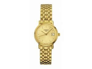 Tissot-Swiss-Made-T-Classic-Desire-All-Gold-Plated-Ladies-039-Watch-T52-5-281-21