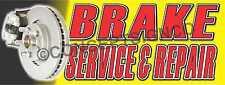 2x5 Brake Service Amp Repair Banner Outdoor Indoor Sign Auto Shop Brakes Rotors