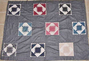 DELECTABLE-MOUNTAINS-VARIATION-ANTIQUE-QUILT-TOP-1880s