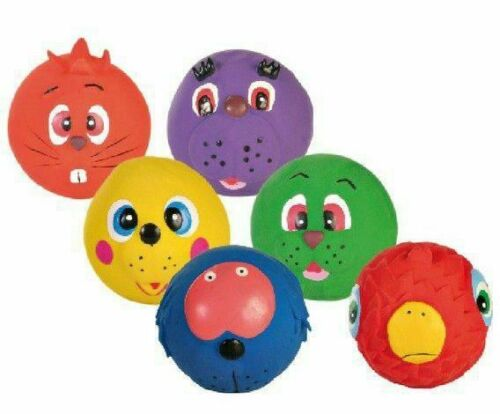 1pc Mix Of Balls With Face 7cm Trixie Latex Toys Dogs