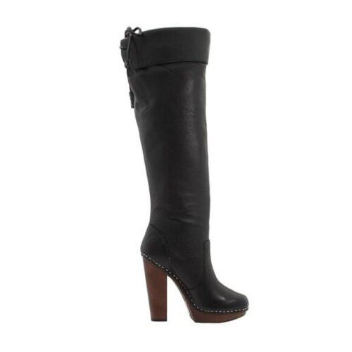 Steven Steve Madden Platform Knee High Tall Boots Tassle Cuffed High Heel Sz 10