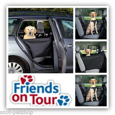 NEW Car Seat Cover With Sides Black Beige Paws 13231