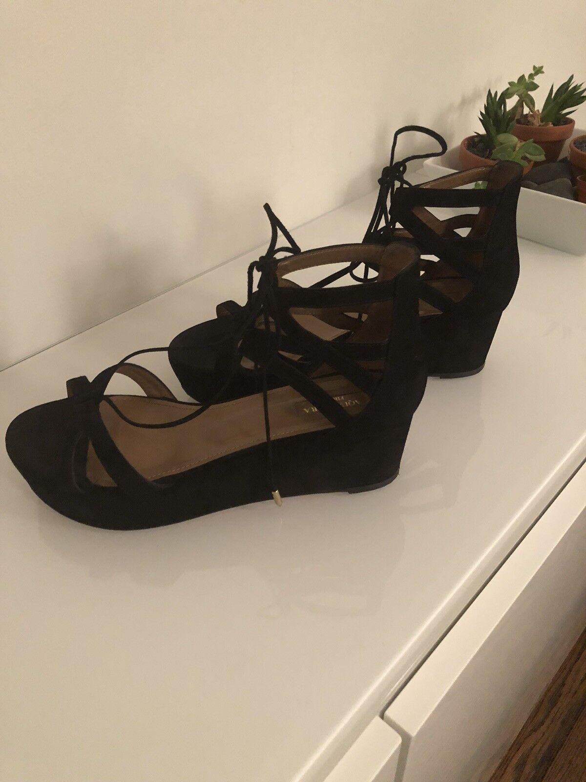 Aquazzura Blk Beverly Hills Suede Platform Sandals Sandals Sandals 7efd20