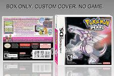 NINTENDO DS : POKEMON PEARL VERSION. ENGLISH. COVER + ORIGINAL BOX. (NO GAME).