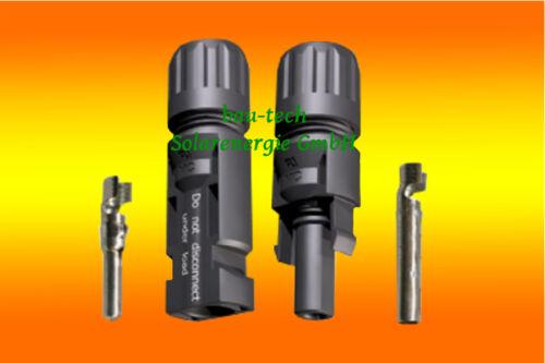 10 Paar Solar MC4 Stecker Buchse Original Multi Contact 4-6mm² Kabel Montage