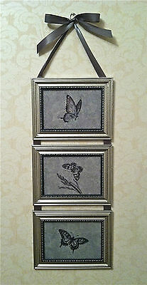 Butterfly Print Picture Collage Frame Wall Hanging Art Decor