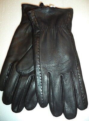 Epoch Men/'s Leather Thinsulate Lined Gloves Black Large
