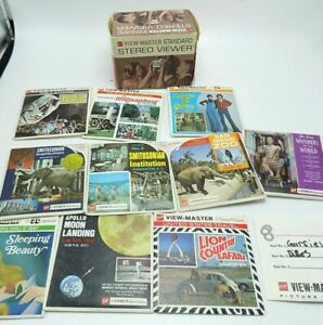 Lot-of-11-vintage-GAF-View-Master-Reel-Sets-With-View-Master-Stereo-Viewer